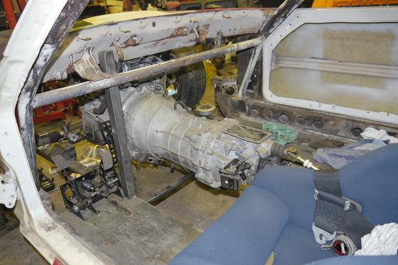 datsun 260Z VQ35 engine install 10
