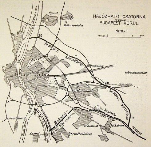 Hajózható csatorna Budapest körül