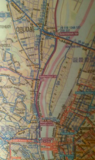 ~dá~: BKV-térkép Tímár utca nélkül