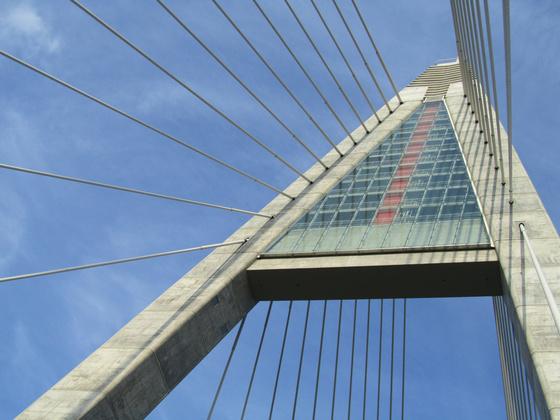 A Megyeri híd, ahogy még nem láthattad