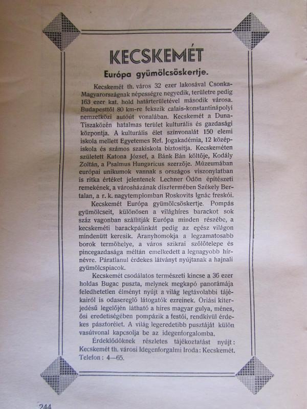 ~dá~: Halácsy Dezső: A magyar városokért