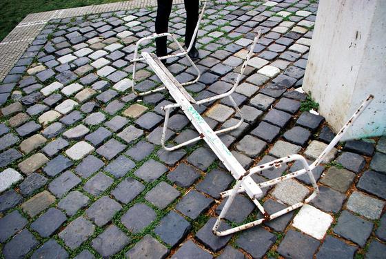 Az Építész Szakkoli padfelújítása - fotó: Molnár Szabolcs