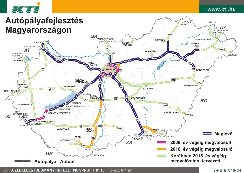 Autópályák magyarországon 2017