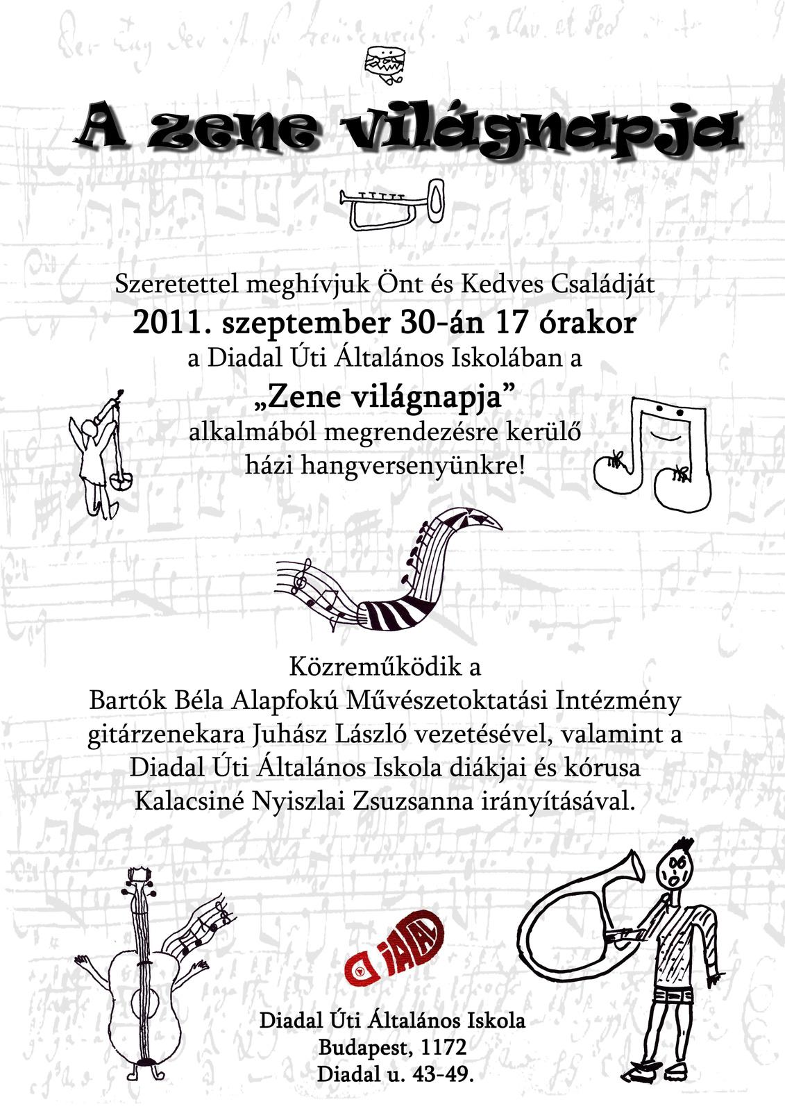 A zene világnapján 2011. 09.