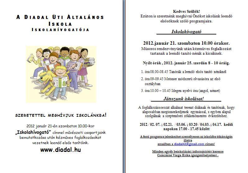 Iskolahívogató 2012. 01.