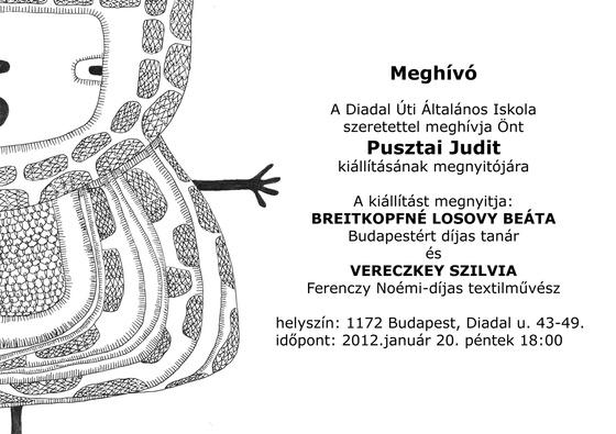 Diadal Úti Általános Iskola: Pusztai kiállítás meghívó 2012.01.