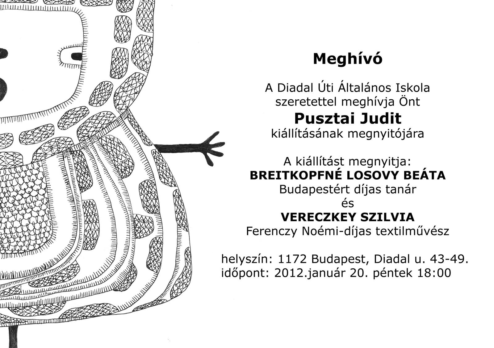 Pusztai kiállítás meghívó 2012.01.