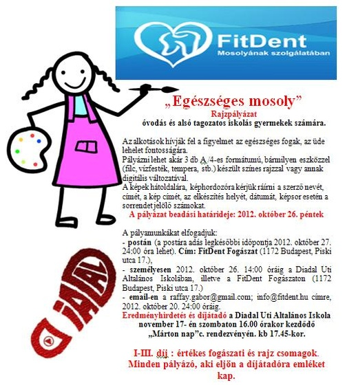 Plakát - FitDent rajzpályázat 201209