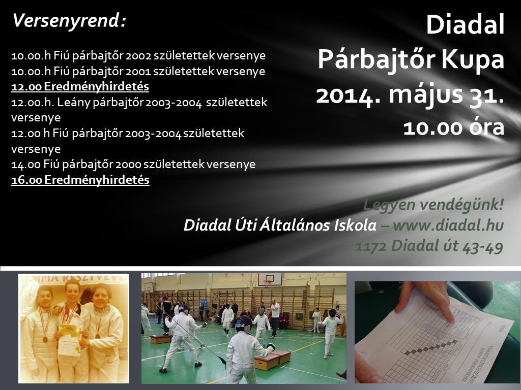 Diadal Párbajtőr Kupa 20140531