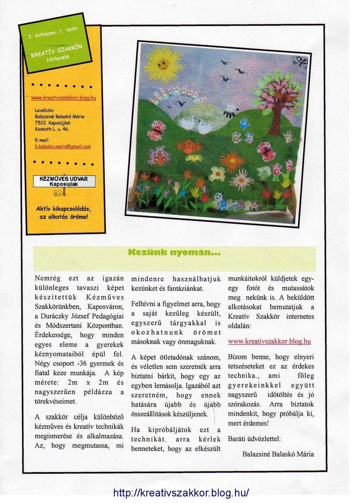 B.B.M: KREATÍV SZAKKÖR Hírlevele 1-1 Page 4