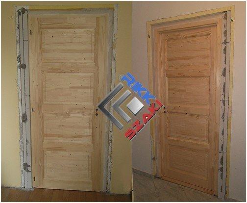 Beltéri fenyő ajtó 90 x 210-es ajtó beépítés. - Rikk-szaki ...