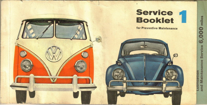 1966 Service Booklet