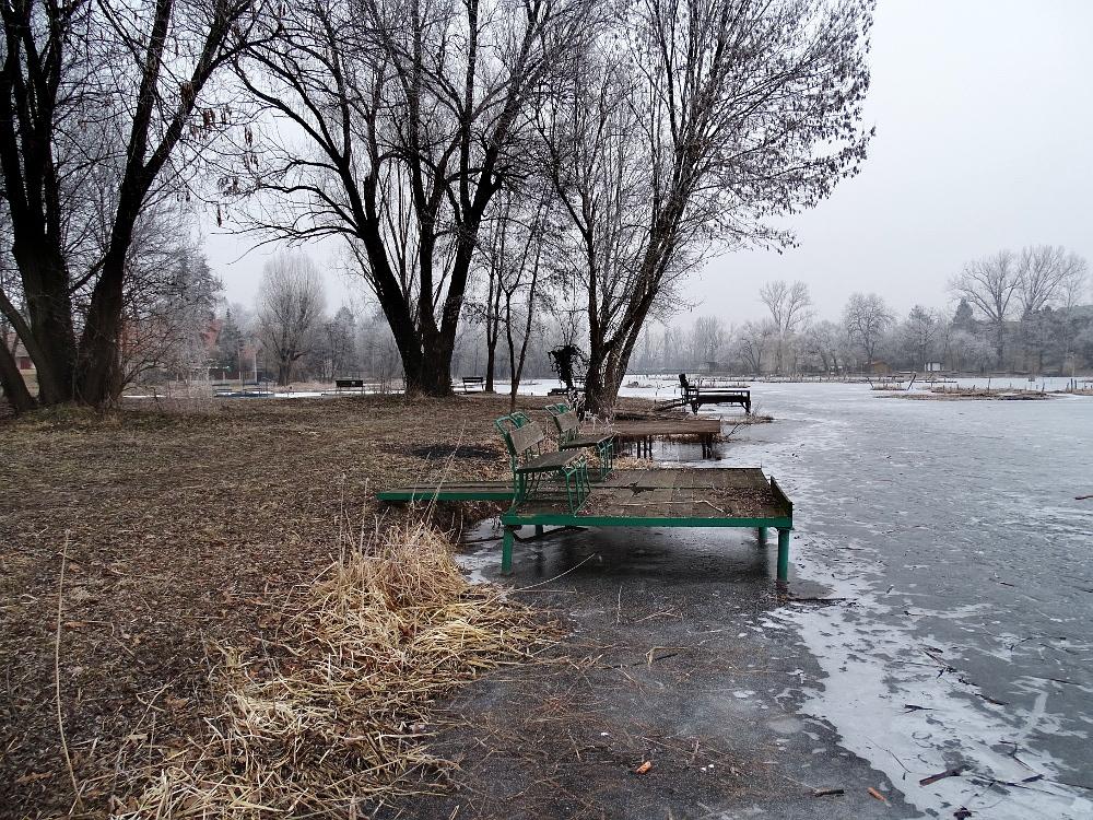 Veresegyház - tó horgász stég2