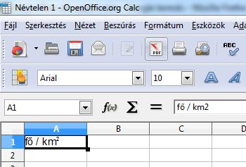 infoerettsegi: felső index openoffice.org calc 3.PNG