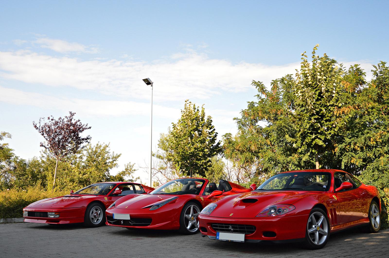575M Maranello -- 458 Spider -- Testarossa