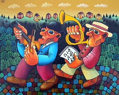 GUIDO VEDOVATO olasz naiv festő alkotása