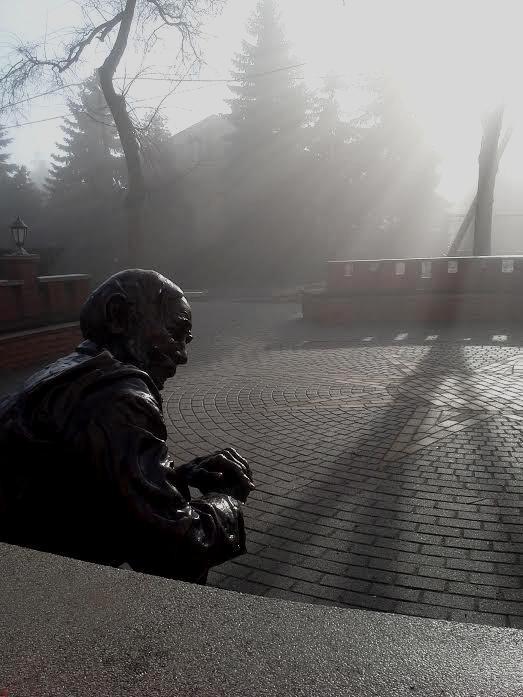 Normafa ködben.