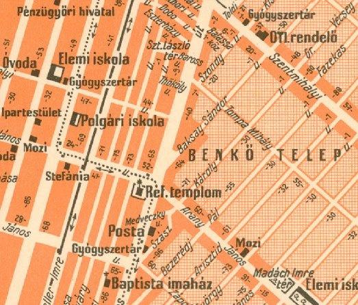 Rákospalota térképrészlet 1941