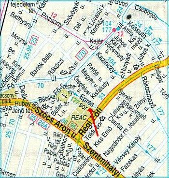 Az Epres sor térképen