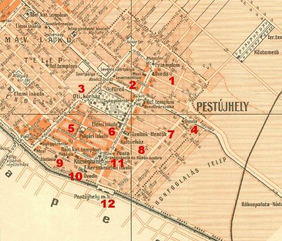 Pestújhelyi térképrészlet, 1941