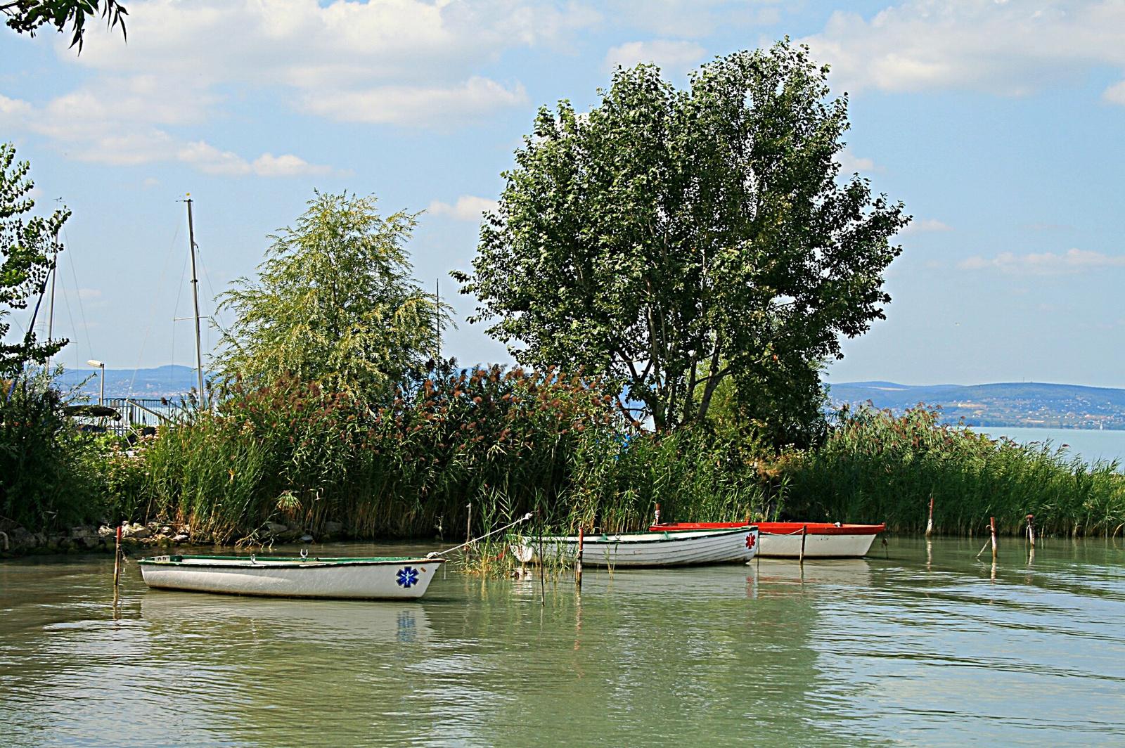 Pihenő csónakok