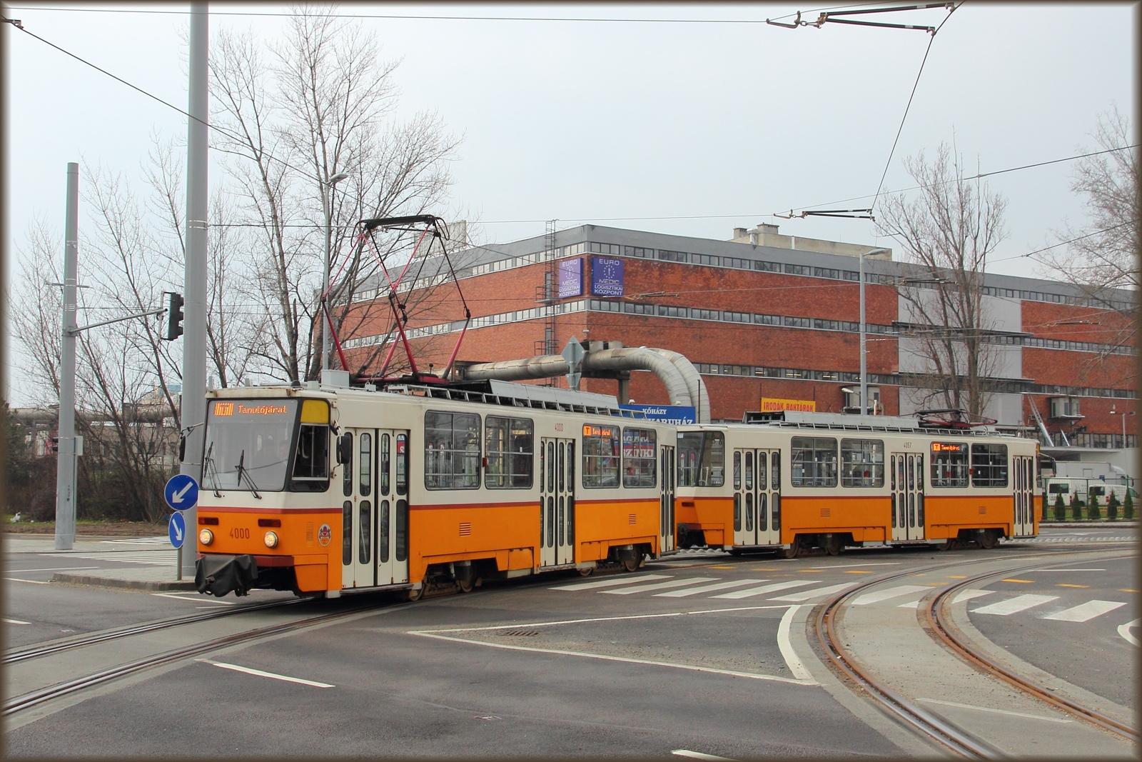 Tanulójárat az 1-es villamos új szakaszán (átadás előtt)