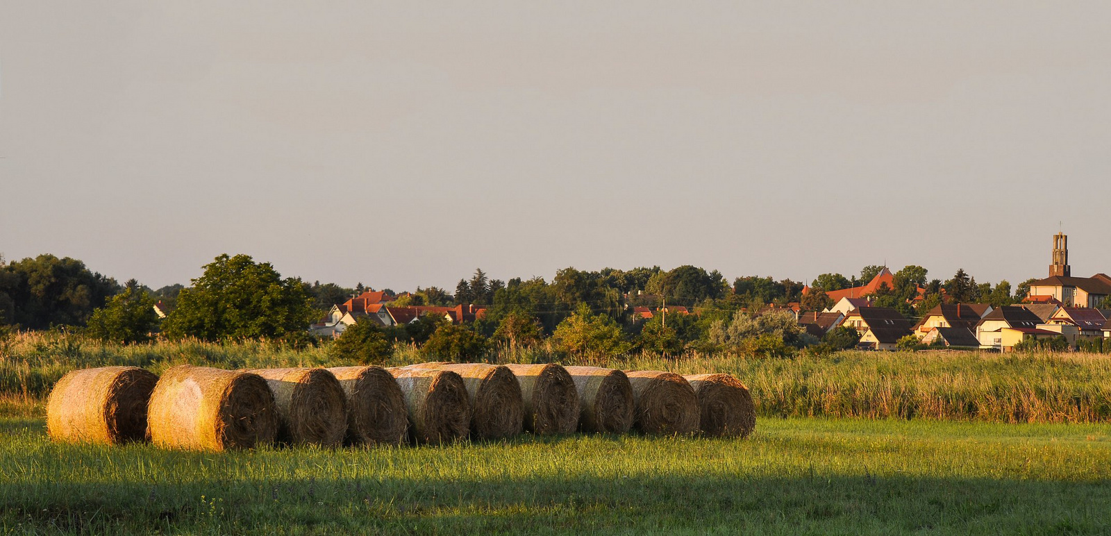 Reggel a falu végén