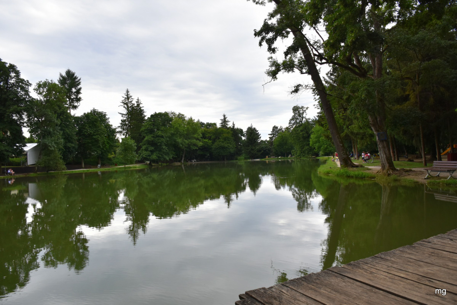 Nagy halak vannak a tóban
