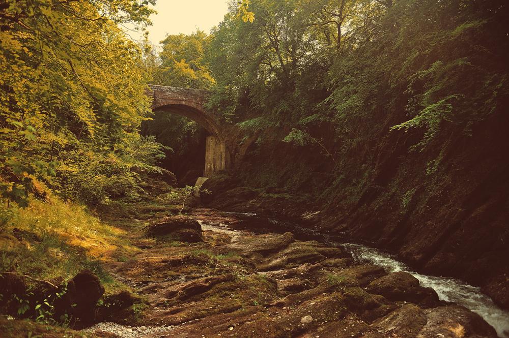 Gannochy Bridge over River North Esk