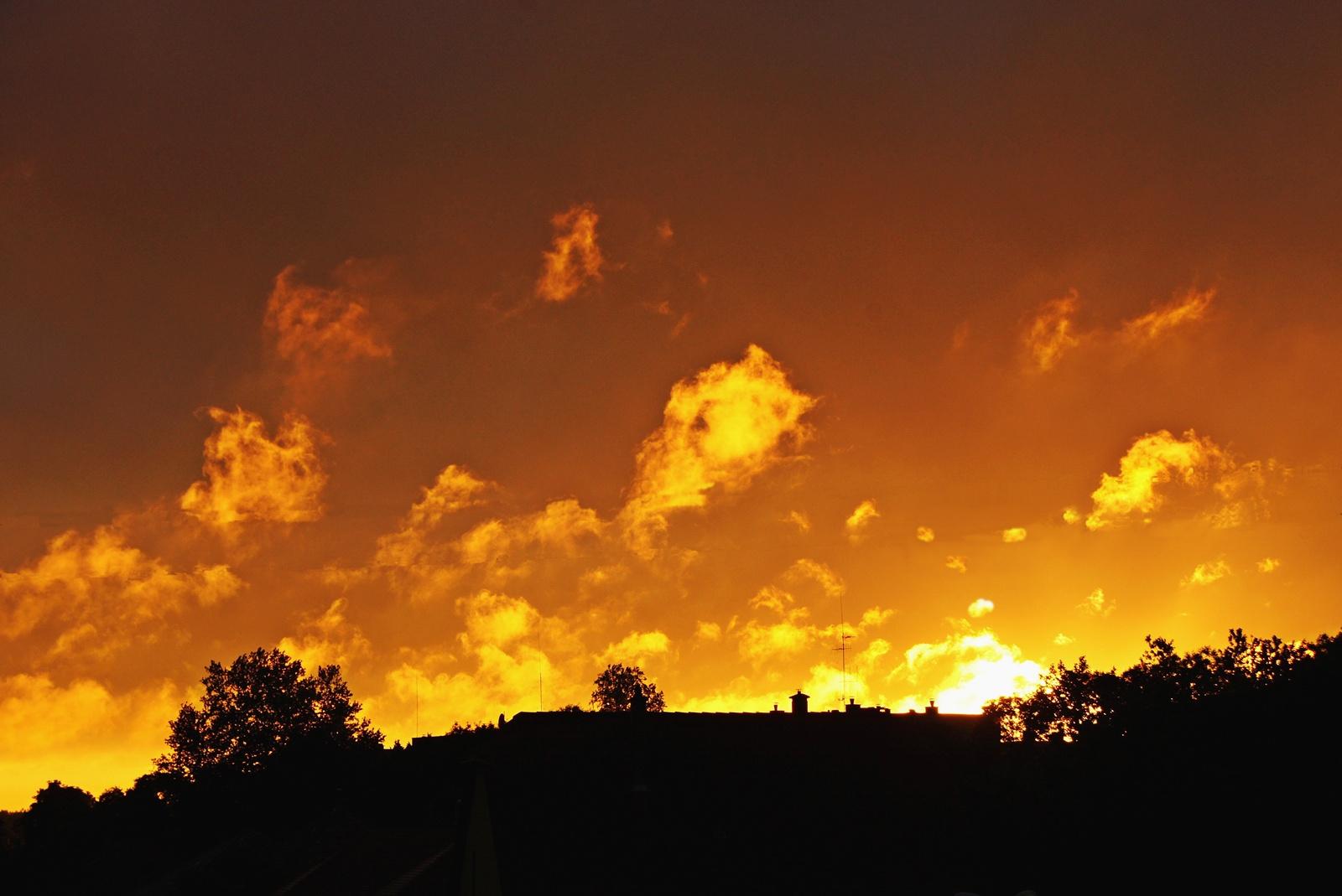 Bajai naplemente