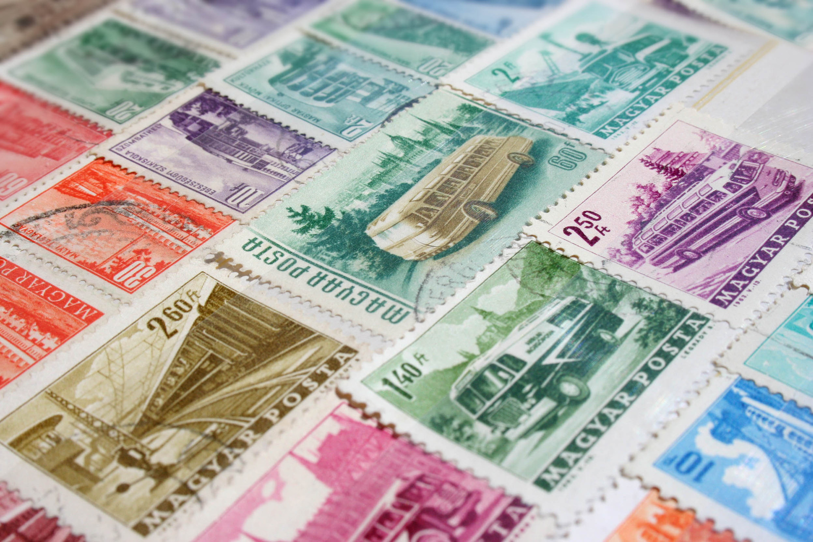 közlekedési bélyegek - 1950-es évek