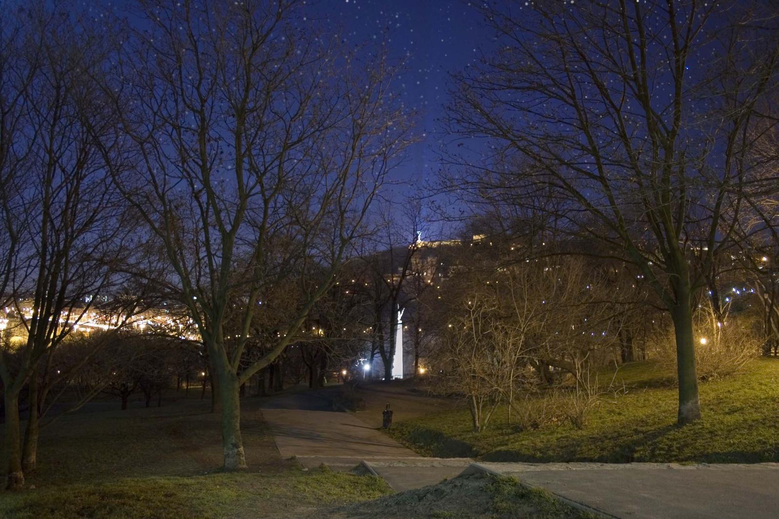 Téli éjszaka a Tabánban