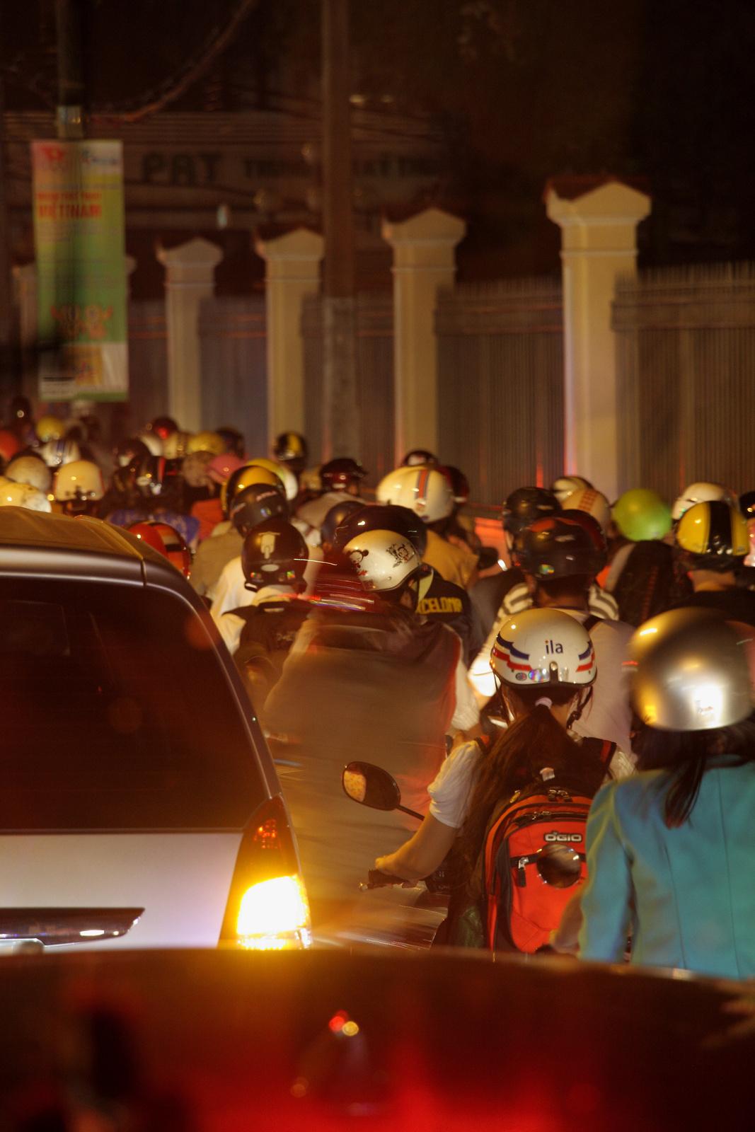 Traffic jam at night again
