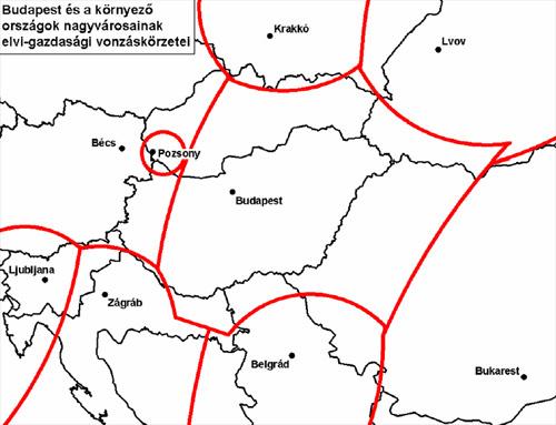 Budapest vonzáskörzete - forrás: hg.hu