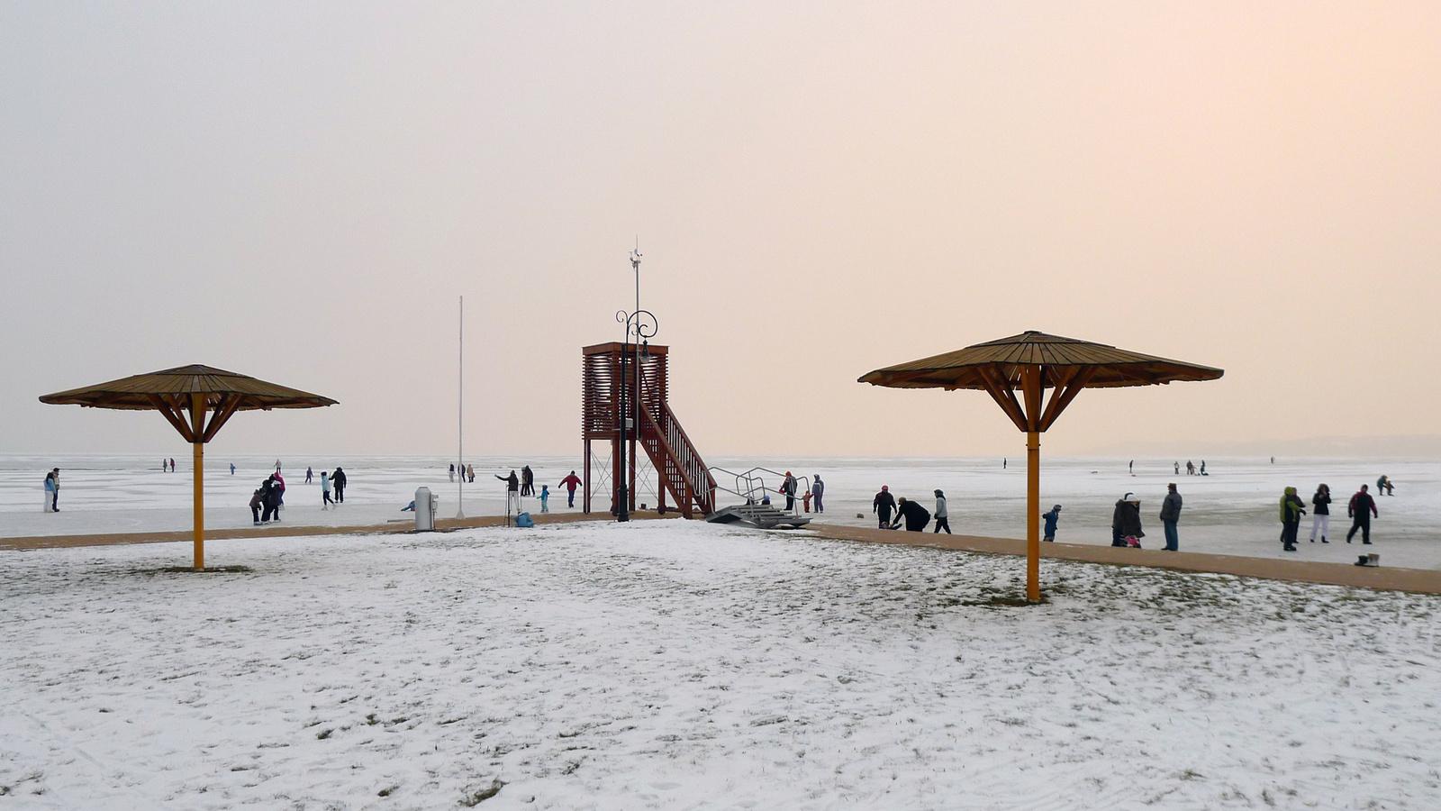 Csopaki Strand -15 C°-ban