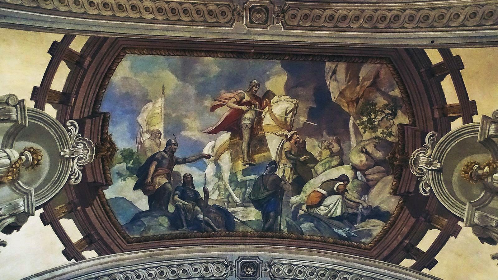 Szent László vízet fakaszt a sziklából