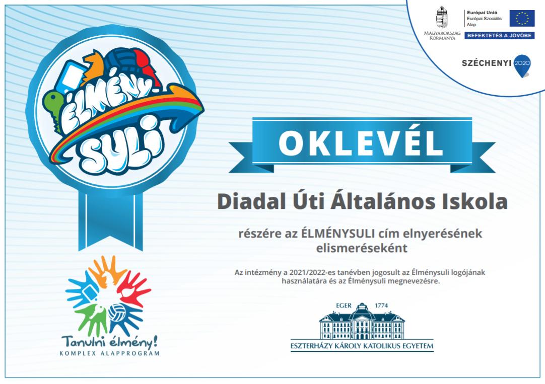 Diadal Úti Általános Iskola: élménysuli okl.png - indafoto.hu