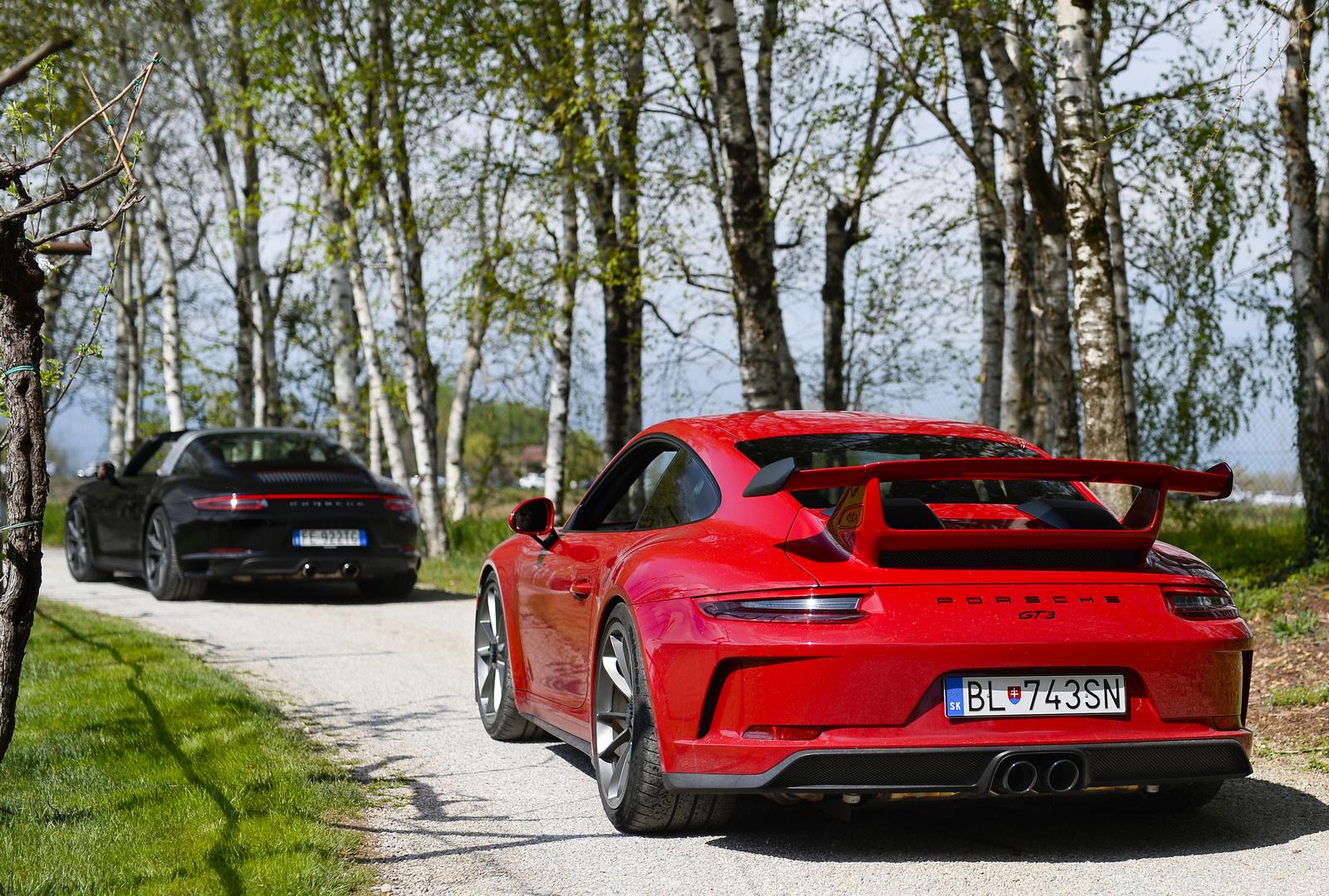 Porsche 911 Targa 4S - Porsche 911 GT3 MKII
