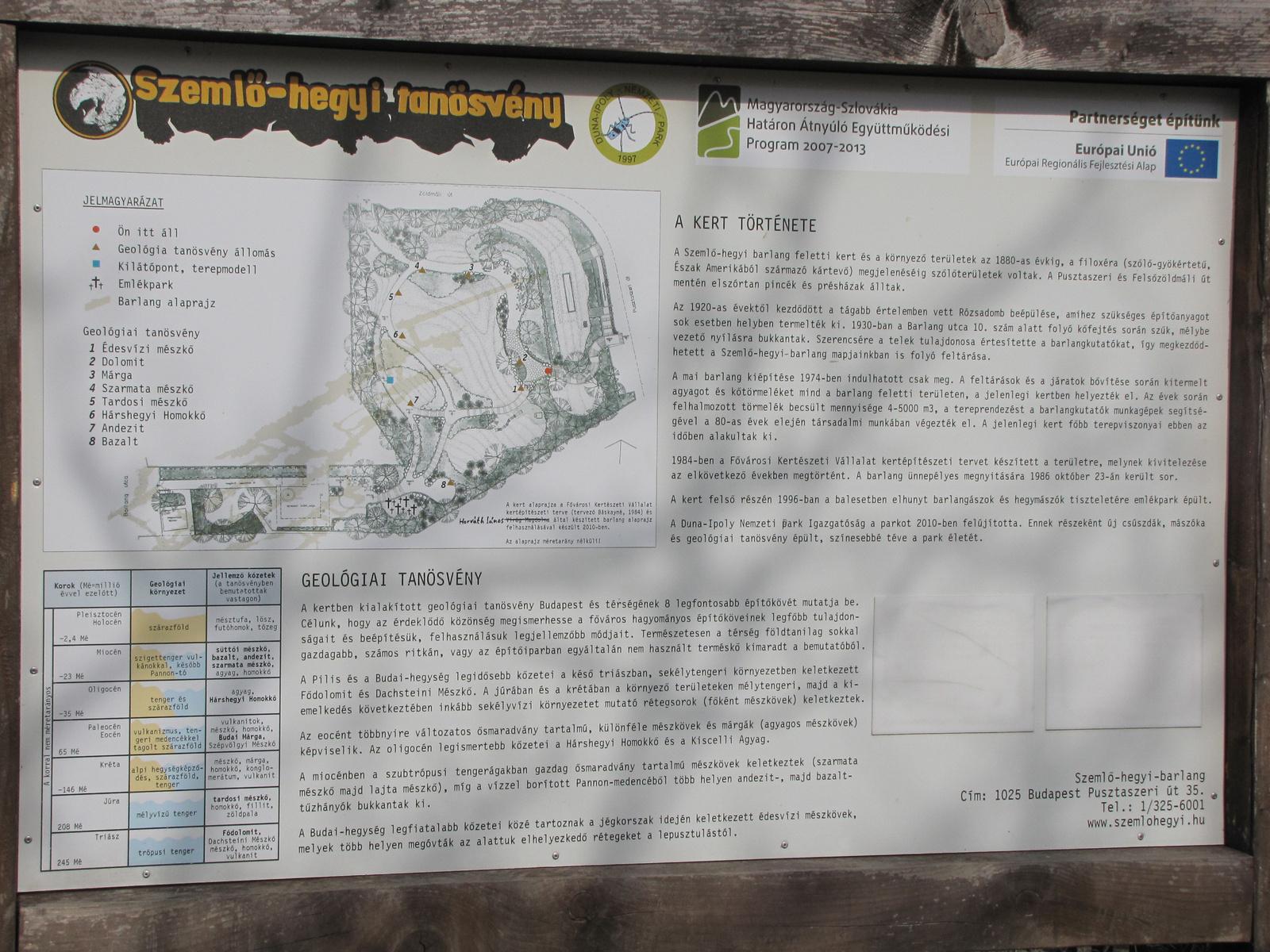 Magyarország, Budapest, Geológiai tanösvény, SzG3
