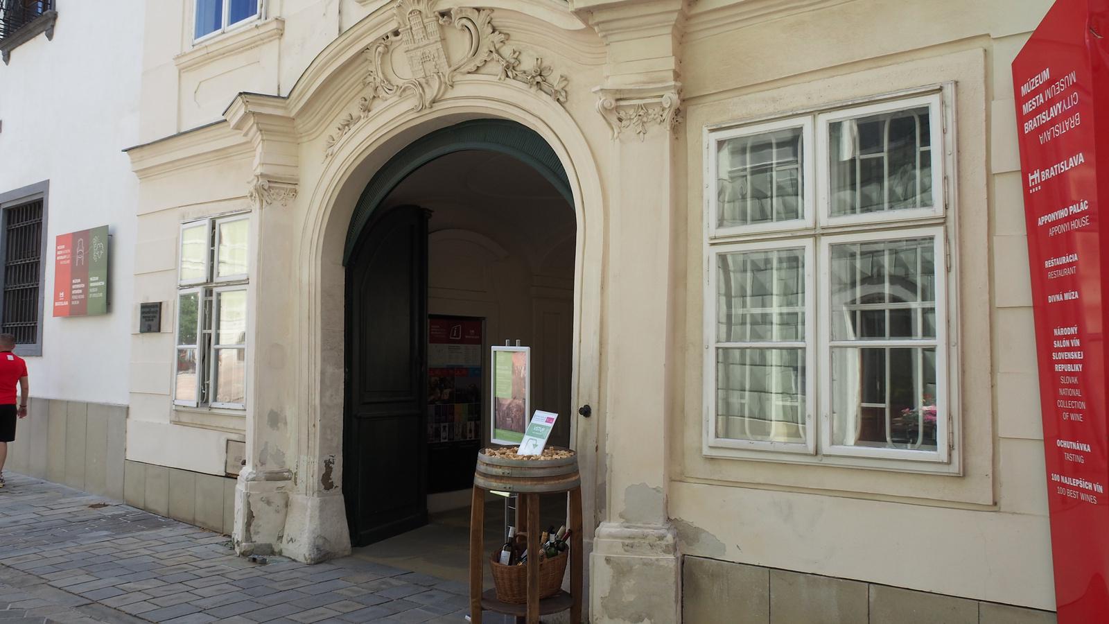 Pozsony, az Apponyi palota, SzG3