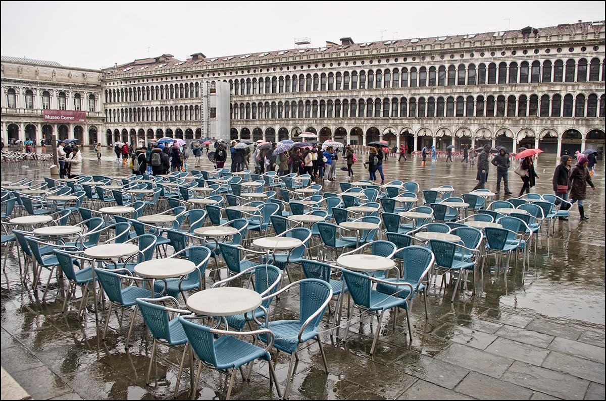 Szent Márk tér esőben