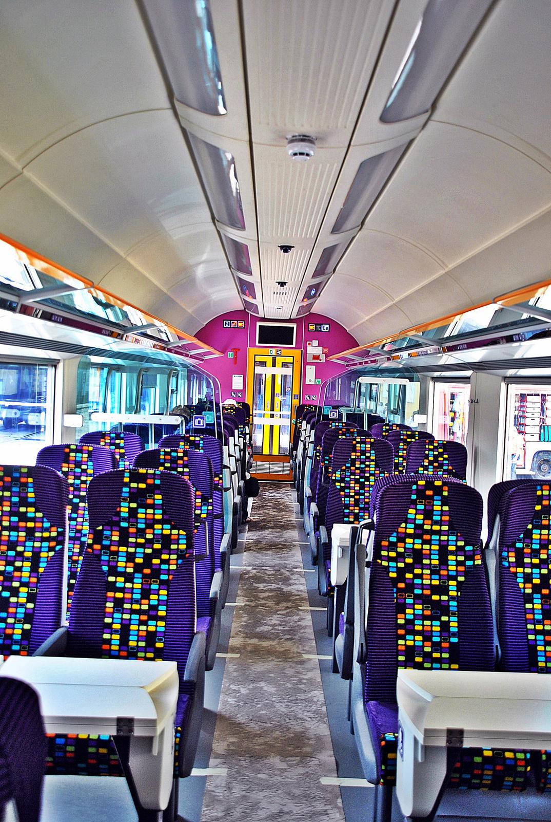 Az új IC+ vagon belső tere