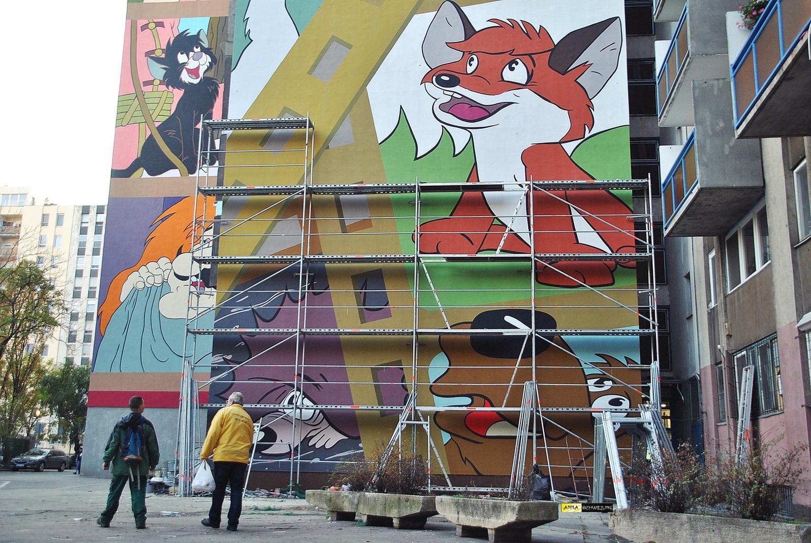 Elkészült a Vuk 2. tűzfalfestmény
