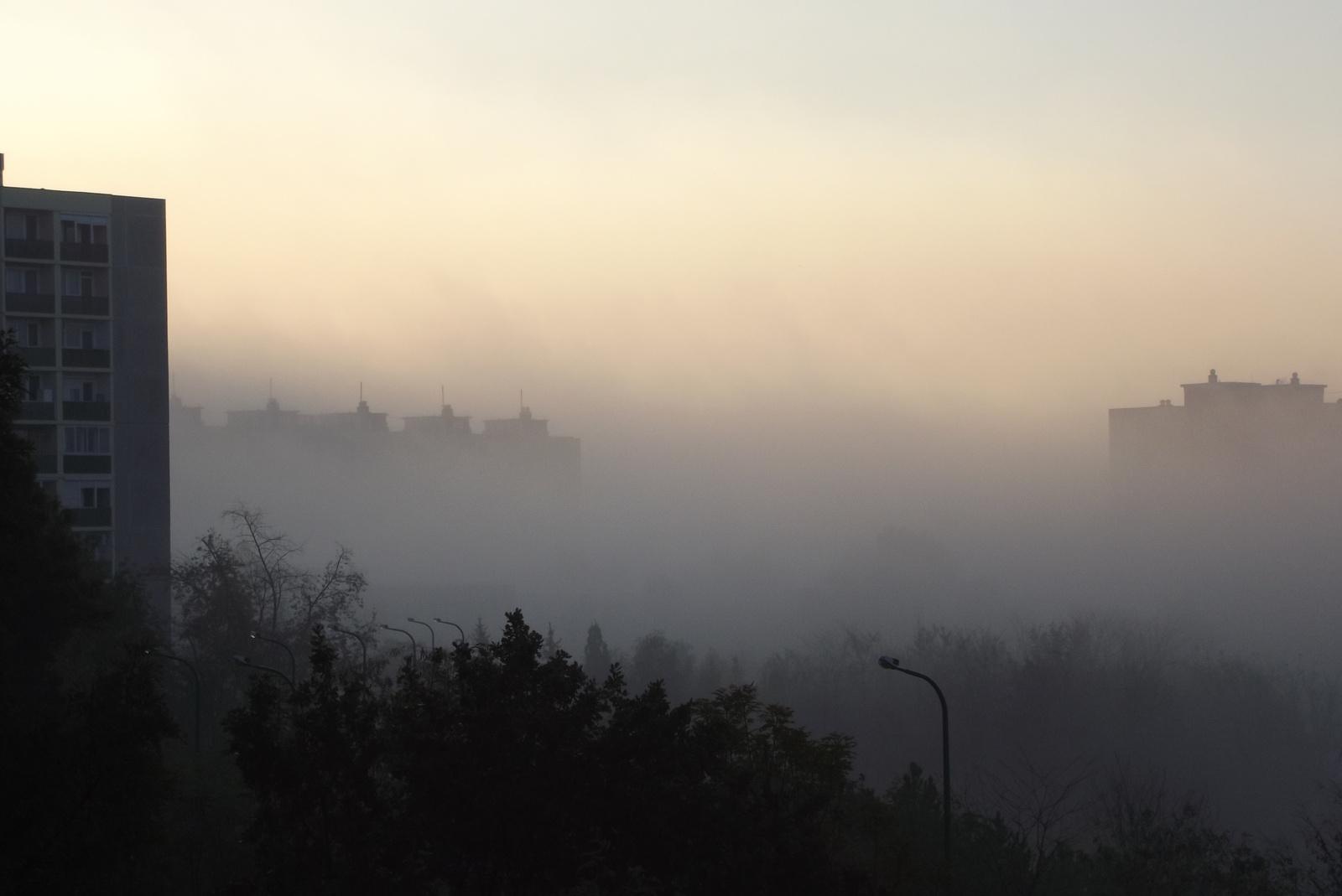 Ködös napkelte