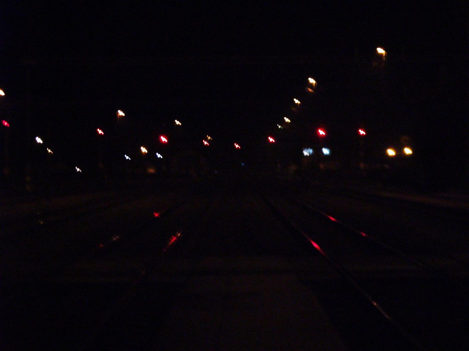 Este a vasútállomáson