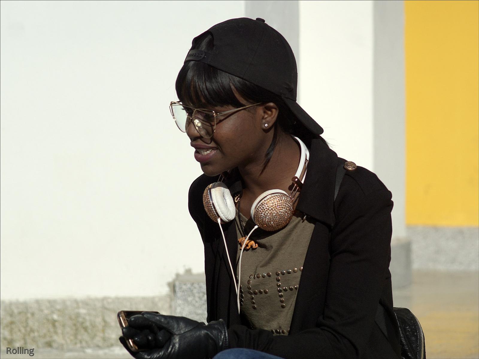 Kedves néző a busójáráson.