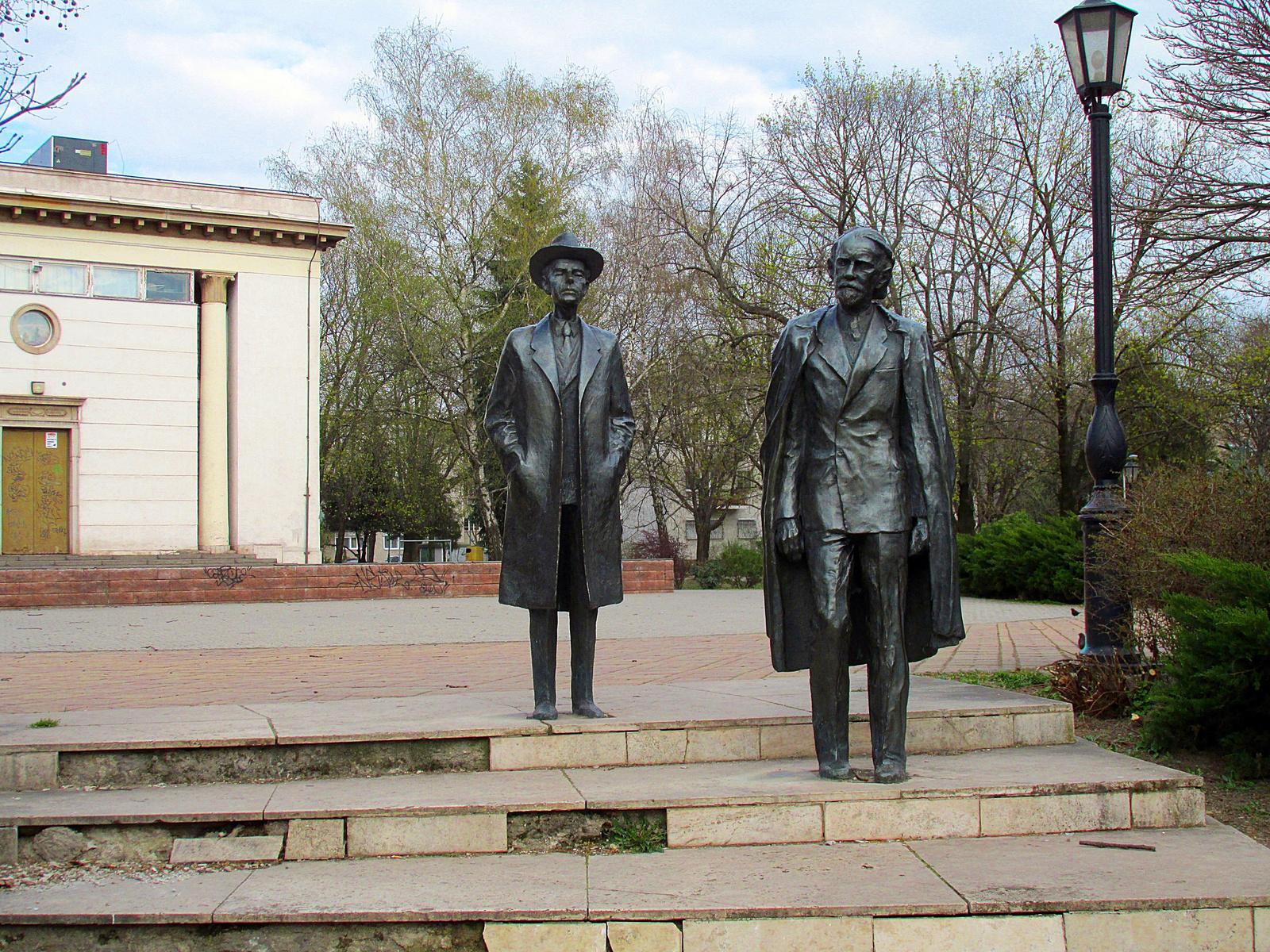 Bartók és Kodály a ligetben